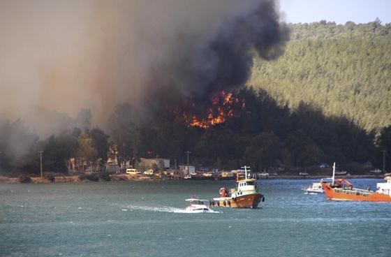 Óriási erdőtüzek pusztítanak a Földközi-tenger keleti partjainál - fotók