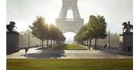 Az Eiffel toronynál sétált át a Szajna fölött egy kötéltáncos, 70 méter magasan
