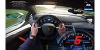 Ilyen, amikor a legsportosabb Lamborghini teljes sebességgel robog az Autobahnon