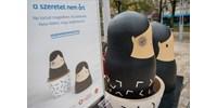 Monoklis matrjoska babák a nők elleni erőszak ellen