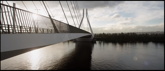 Álom vakáció, híd, kerékpár, magányos fa - Vászonkép, 40 x 40 cm - budapest-mellplasztika.hu