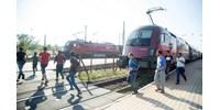 Kisiklott egy vonat a bécsi főpályaudvarnál