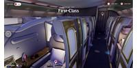 Otthon ülve is körülnézhet az Emirates luxusrepülőjén